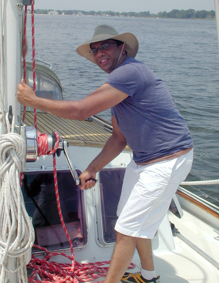 Ashwin on main halyard