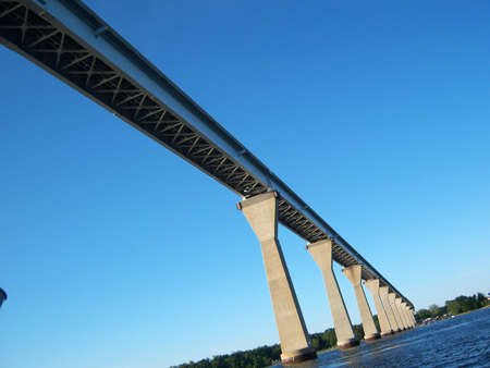 Going under bridge