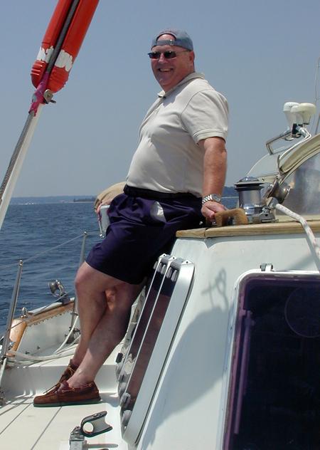 Wayne standing amidships