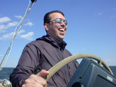 Steve at the helm